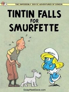 Les Aventures de Tintin - Album Imaginaire - Tintin Falls for Smurfette