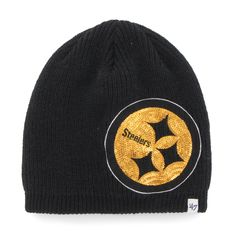 separation shoes 340e0 65f8f Pittsburgh Steelers Sparkle Beanie Black 47 Brand Womens Hat