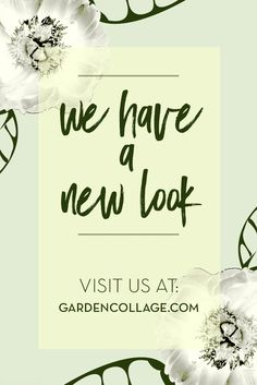 Garden Collage has a new look! Check it out.