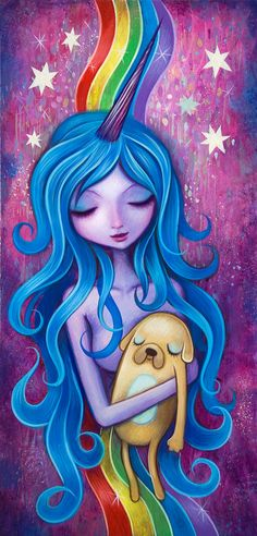 Lady Rainicorns Loving Arms by Jeremiah Ketner