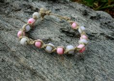 Breast Cancer Awareness Ankle bracelet by HippieLoveShop on Etsy, $6.00