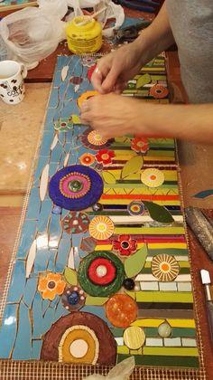 Mosaiquismo trabajo de Raquel en el taller de Mosaiquismo de Ricardo Stefani