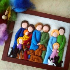* Additional dog _or_ cat to the hand felted, individual family sport … - Stofftiere Wool Needle Felting, Needle Felted Animals, Wet Felting, Felt Gifts, Felt Pictures, Felted Wool Crafts, Felt Fairy, Felting Tutorials, Felt Toys