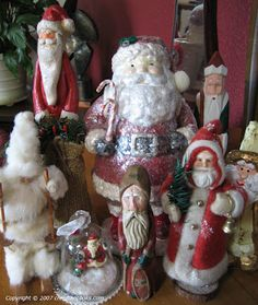 Santas- reminds me of moms collection
