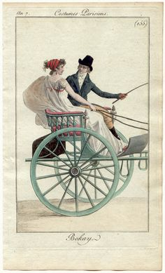 I don't know about you, but I want to ride in this chariot with this fellow! Lovely print.