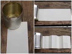 Papierschablone für Kronendose falten Pop Can Crafts, Pop Cans, Metal Art, Shelves, Canning, Advent, Home Decor, Environment, Tin Cans