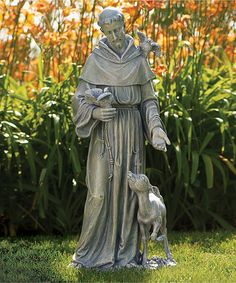 Look at this Saint Francis & Deer Garden Statue on #zulily today!