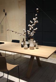 Baumwolle, Zweig als Tischdekoration