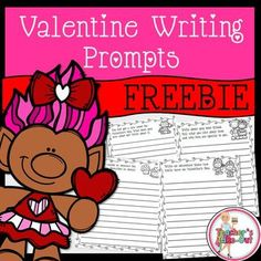 4 Free Valentine Writing Prompts for students to write creatively. Choose 1 or all 4 to spark some interest in students to pick up a pencil and begin writing.