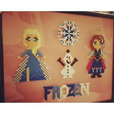 Frozen perler beads by  badassbeader