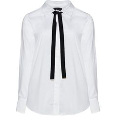 Zizzi White Plus Size Detachable tie shirt ($62) ❤ liked on Polyvore featuring tops, blouses, plus size, white, white long sleeve shirt, neck ties, neck tie blouse, long-sleeve shirt and white long sleeve blouse