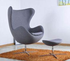creatieve design fiberglass shell stoelen draaibare fauteuil stoel fluwelen stoel audio-functies hoge rug fauteuil