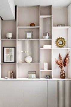 Living Room Wall Units, Home Living Room, Living Room Decor, Living Room Partition Design, Room Partition Designs, Home Office Decor, Home Office Design, Home Decor, Home Room Design