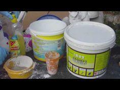 Beton giessen - DIY - Knetbeton - Das Rezept !!!  Variante 1  mit Fix Zement - YouTube