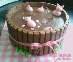 pigs-in-mud-chocolate-kit-kat-cake