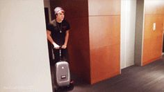 When I hear someone say Austin Mahone in public. Yeah, I ride a luggage scooter. :)