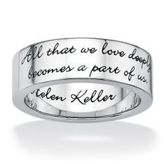 Toscana Stainless Steel Inspirational Message Band   Overstock.com Shopping - Big Discounts on Palm Beach Jewelry Stainless Steel Rings