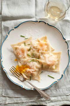 Egg Yolk Ricotta Ravioli.