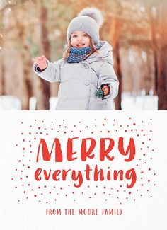 Send this Hand Lettered Merry Everything Holiday Card to anyone in the world in just a few minutes! We'll mail this custom photo card for you! Holiday Ideas, Holiday Cards, Christmas Ideas, Christmas Cards, Card Ideas, Gift Ideas, Winter Decorations, Cute Cards, Photo Cards