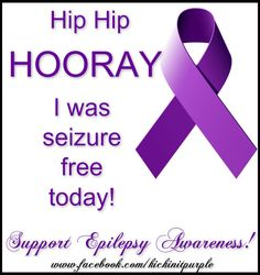 My first seizure free Purple Day.