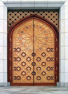 Door (the Kiptchak mosque in Turkmenistan). The Kiptchak mosque is the largest m , Door Knockers, Door Knobs, Door Handles, Doors Galore, Porches, Door Detail, Cool Doors, Door Gate, Islamic Architecture