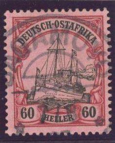 German Colonies, DP-Ostafrika 1905/19, 60 H. mit Stempel von BAGAMOYO, Pracht, gepr. Bothe BPP (gest., Mi.-Nr.29/Mi.EUR 120,--). Price Estimate (8/2016): 40 EUR.