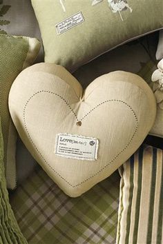 Love Label Heart Cushion from Next | £16