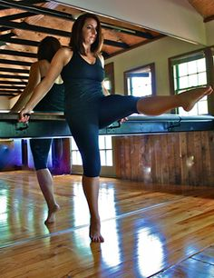 Barre instructor Kathy Caudill