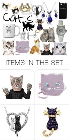 """""""Cats"""" by taradactyl22 on Polyvore featuring art"""