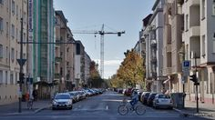 Blick auf die Winsstraße und das Winsviertel von der Danziger Straße aus