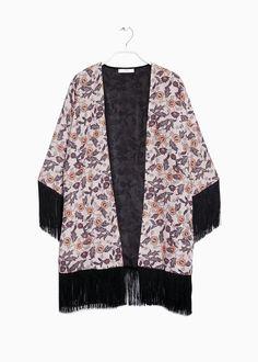 Kimono floral flecos