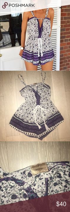 Clara playsuit Mura boutique romper Australian size 8-small Floral tie around waist v neck playsuit Mura Boutique Other