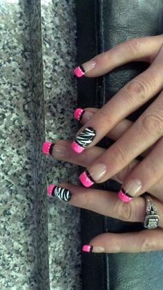 Wow! Zebra nail art.