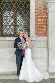 After-Wedding-Shooting in Venedig, bei Regen,