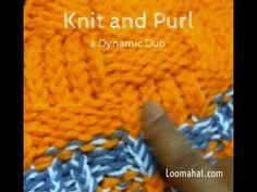 Knit and Purl - Loom Knitting Stitch Combination