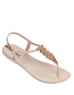 Ipanema Women s Deco Flat Sandal, Beige Bronze, 7 M US. Easy to slip on and  off. sizes recommended to size up to the next whole size. 81b3d366eb03