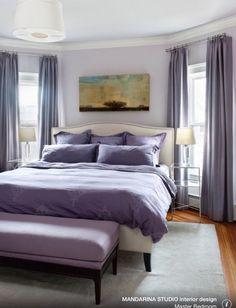 Benjamin Moore Hint of Violet 2114-60,  Master Bedroom / MANDARINA STUDIO interior design