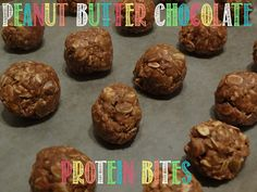Almond Joy: Peanut Butter Chocolate Protein Bites