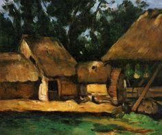 The Oilmill, 1871 by Paul Cezanne, Impressionist period. Romanticism. landscape. Private Collection