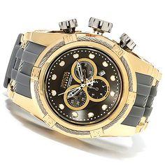 623-298 - Invicta Reserve 52mm Bolt Zeus Swiss Made Quartz Chronograph Polyurethane Strap Watch