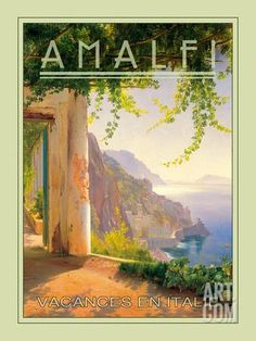 Amalfi Giclee Print by The Vintage Collection at Art.co.uk