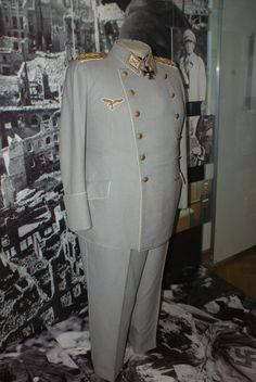 Hermann Göring uniform. All the Nazi party's uniforms were designed by Hugo Boss. The money they received from the project kick started the fashion house still producing high end fashion today