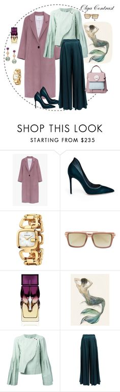 """""""05.09.2017"""" by olgacontrast on Polyvore featuring мода, Gianvito Rossi, Gucci, Frency & Mercury, Christian Louboutin, Loewe и WtR"""