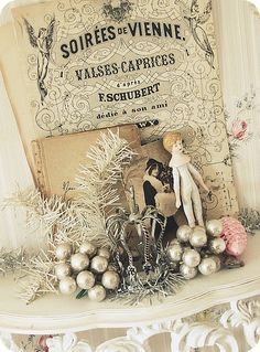 Beautiful sheet music and vignette
