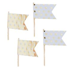 caketopper flag gold dots