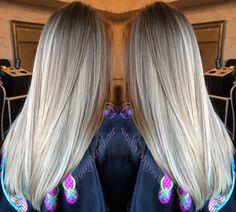 Hair by me! Balayage blonde highlights. #paintedhair #veryterrihair
