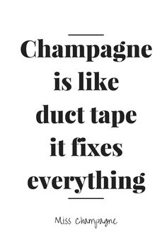 #Champagne is like duct tape it fixes everything. En daarnaast is het ook erg lekker! www.brouzje.nl