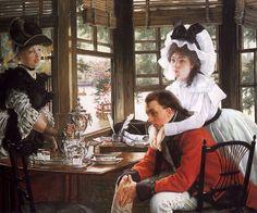 James Jacques Joseph Tissot (1836-1902)  Bad News  Oil on canvas  1872