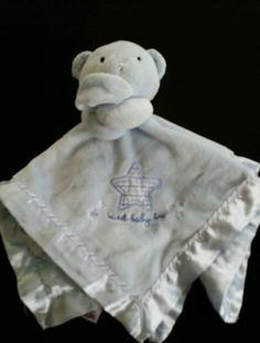 Carter's Just One Year Blue Sweet Baby Boy Plush Bear Rattle Lovey Blanket  #JustOneYear