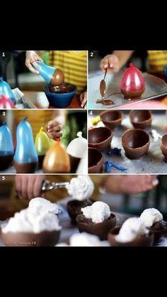 Chocolate desert bowls